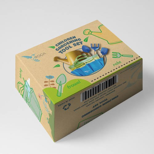 Packaging for children gardening tool set