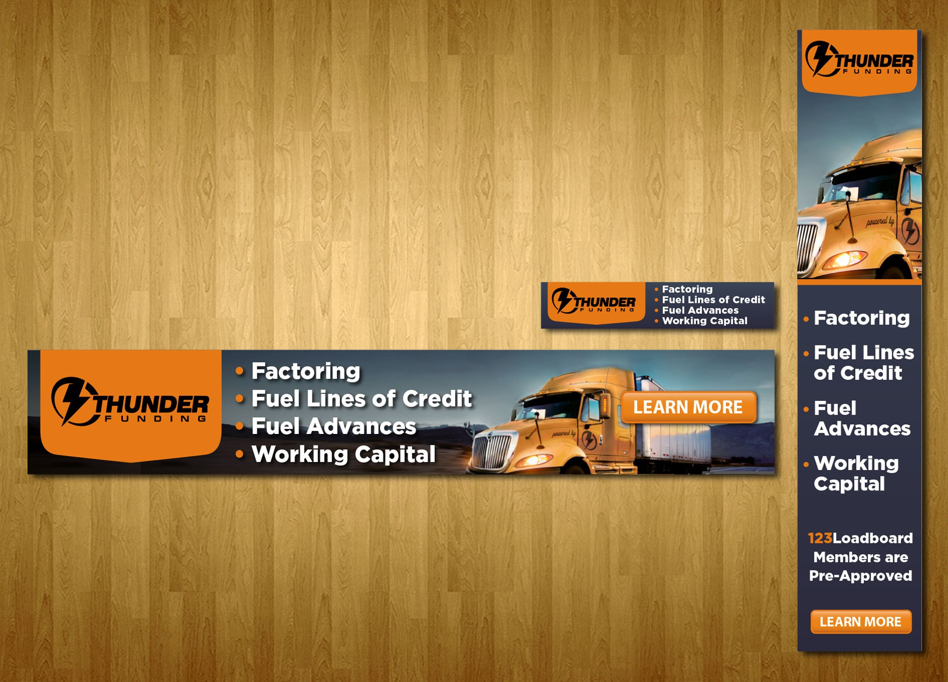 Thunder Funding Banner Ads