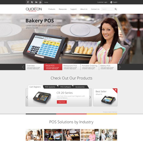 QUORiON - B2B website design