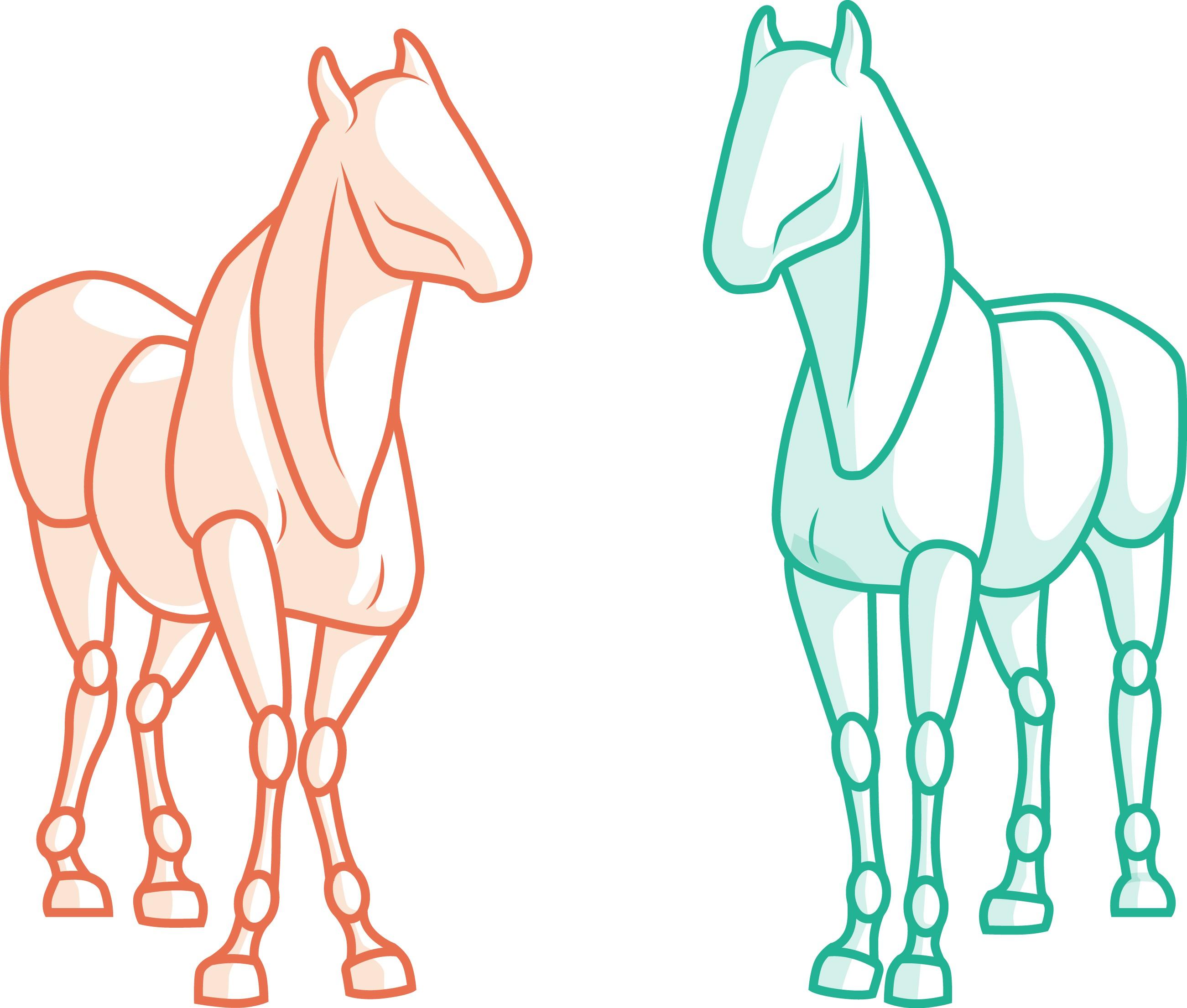 Logo / Key Visual for deep tissue massage business for horses