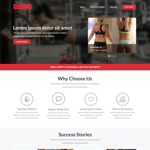 LANDING PAGE FOR TRAINING BUSINESS