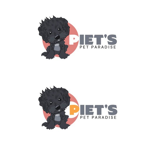 Design a logo for Piet's Pet Paradise