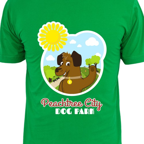 Design a t-shirt for our non-profit dog park fundraising efforts