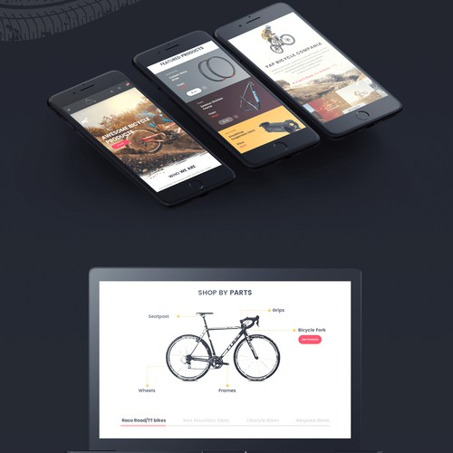 Mockup for Homepage design on devices