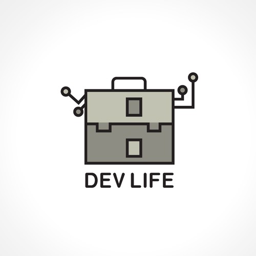 Logo concept for Dev Life - Tech and education