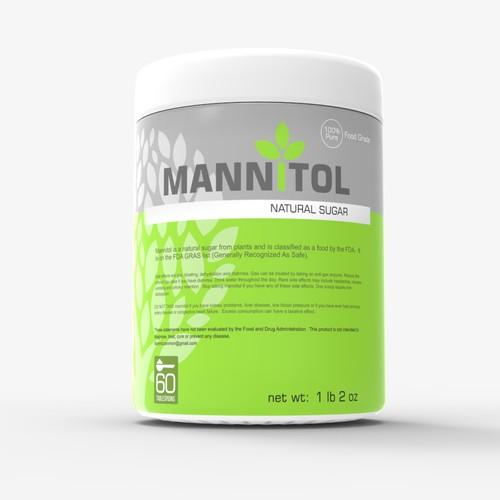 Bottle label for Mannitol