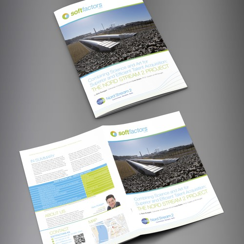 """Brochure design for a contest """"White Paper Nord Stream2 AG / softfactors AG"""""""