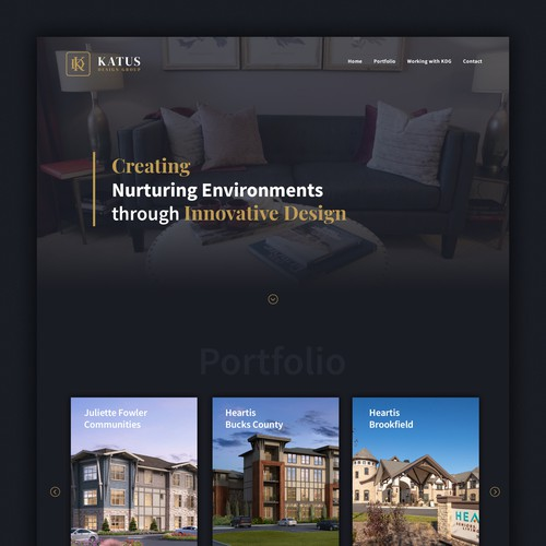 Wordpress website for small architecture firm