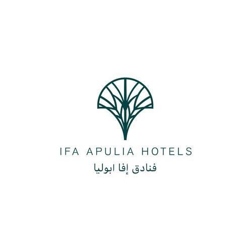 logo per Società che si occupa di gestione di strutture alberghiere e hotels