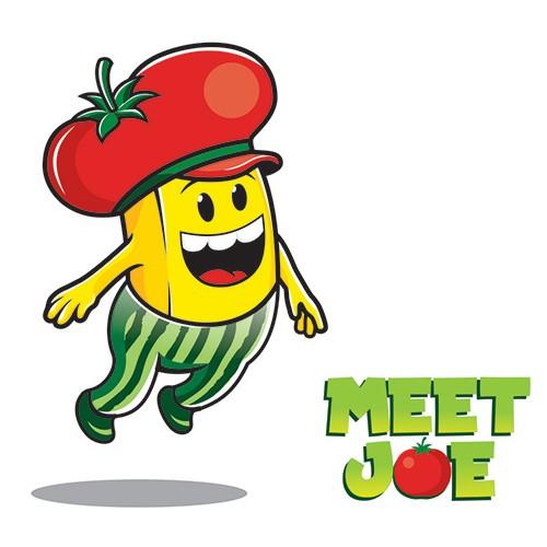 """meet Joe"" Mascot Illustration"