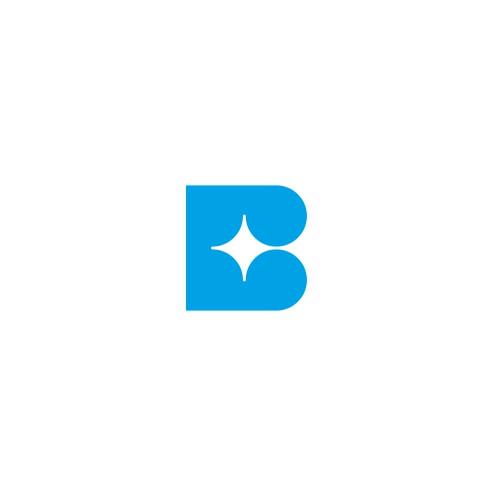 Letter B + star logo concept