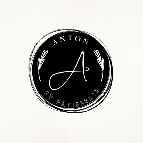 ANTON SV PATISSERIE LOGO DESIGN.