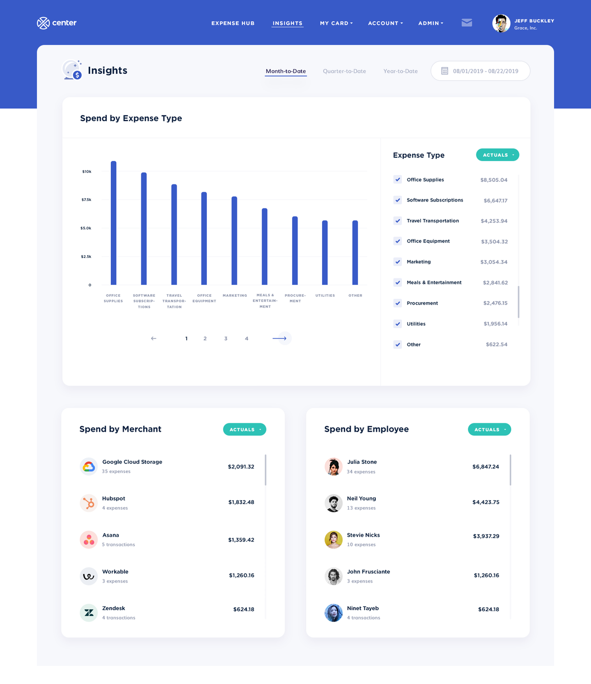 Landing page for Fintech start up