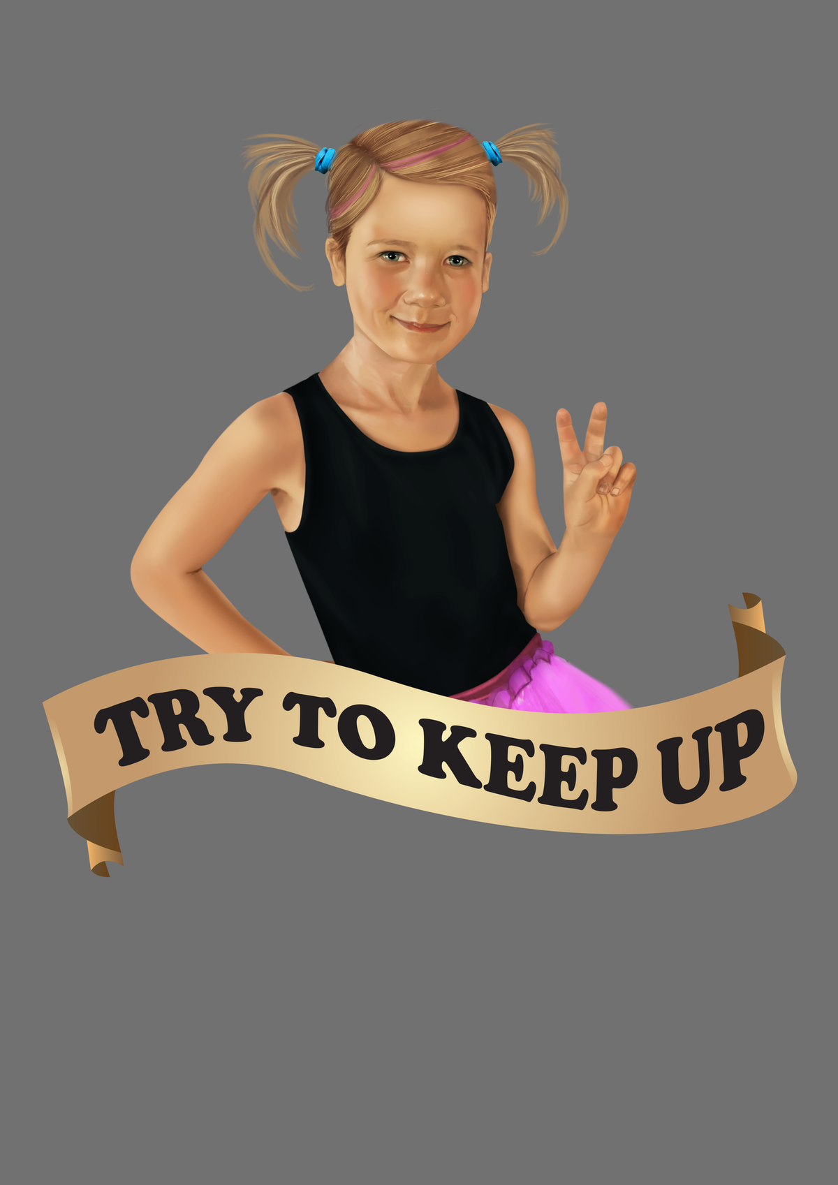 'Run Like a Girl' T-Shirt- for a child