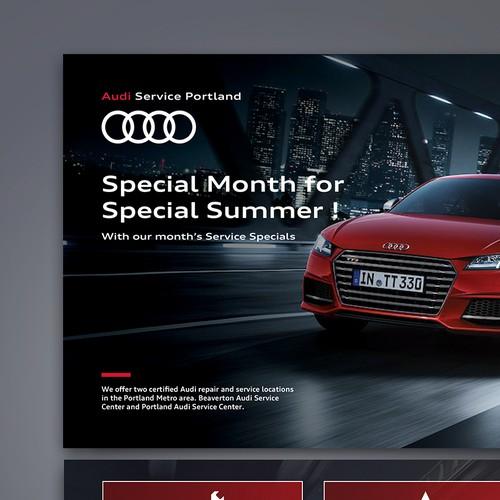 Audi service Portland USA postcard