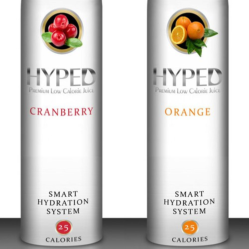 product label for HYPED - PREMIUM LOW CALORIE JUICE - SMART HYDRATION SYSTEM