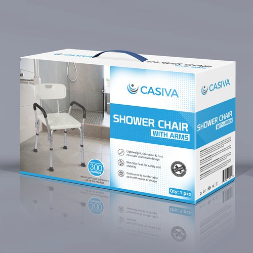 product package for Casiva Shower Chair