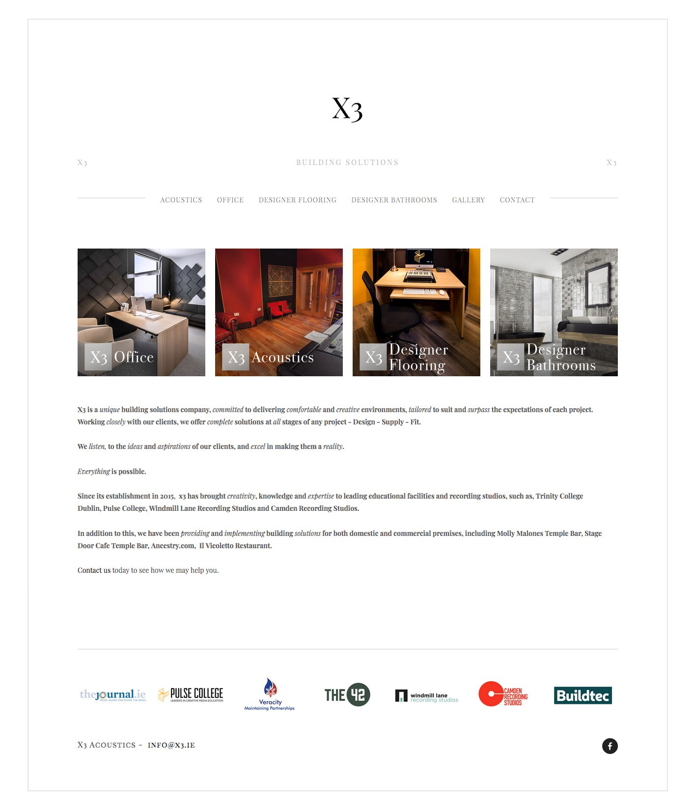X3 - Further Design Support on Squarespace Website