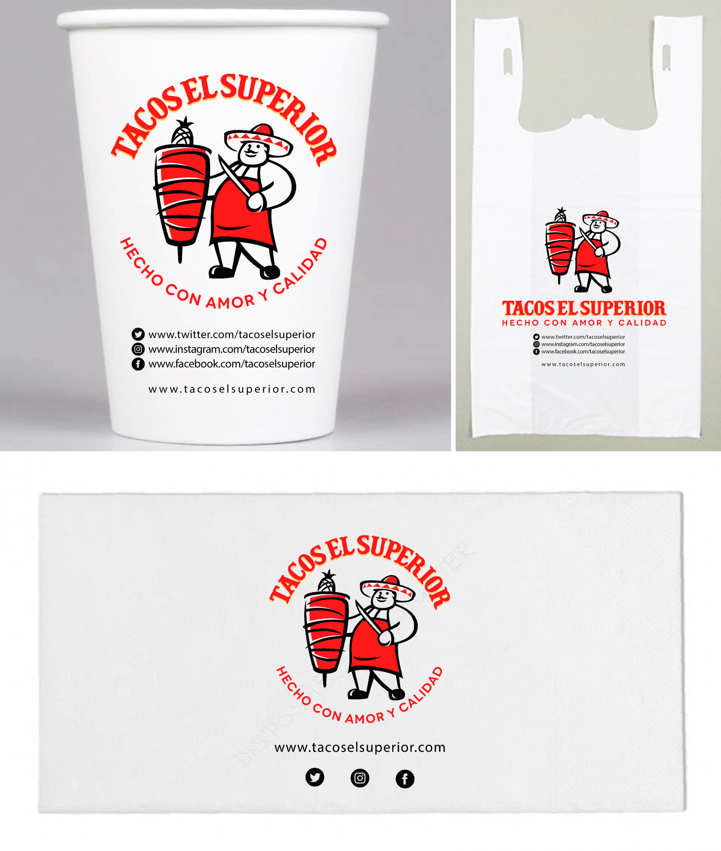 Packaging for Cups, Napkins, and bags