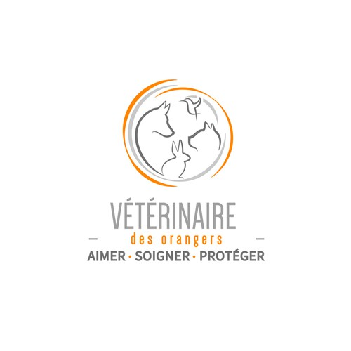 Logo pour clinique vétérinaire