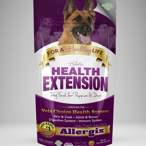 Update Holistic Dog Food with a refreshed look and feel