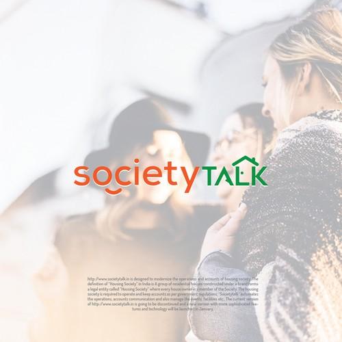 Simple and Elegant Logo SocietyTalk