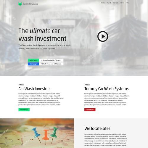 Car wash landing page
