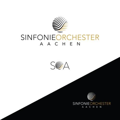 modern logo for aspiring orchestra