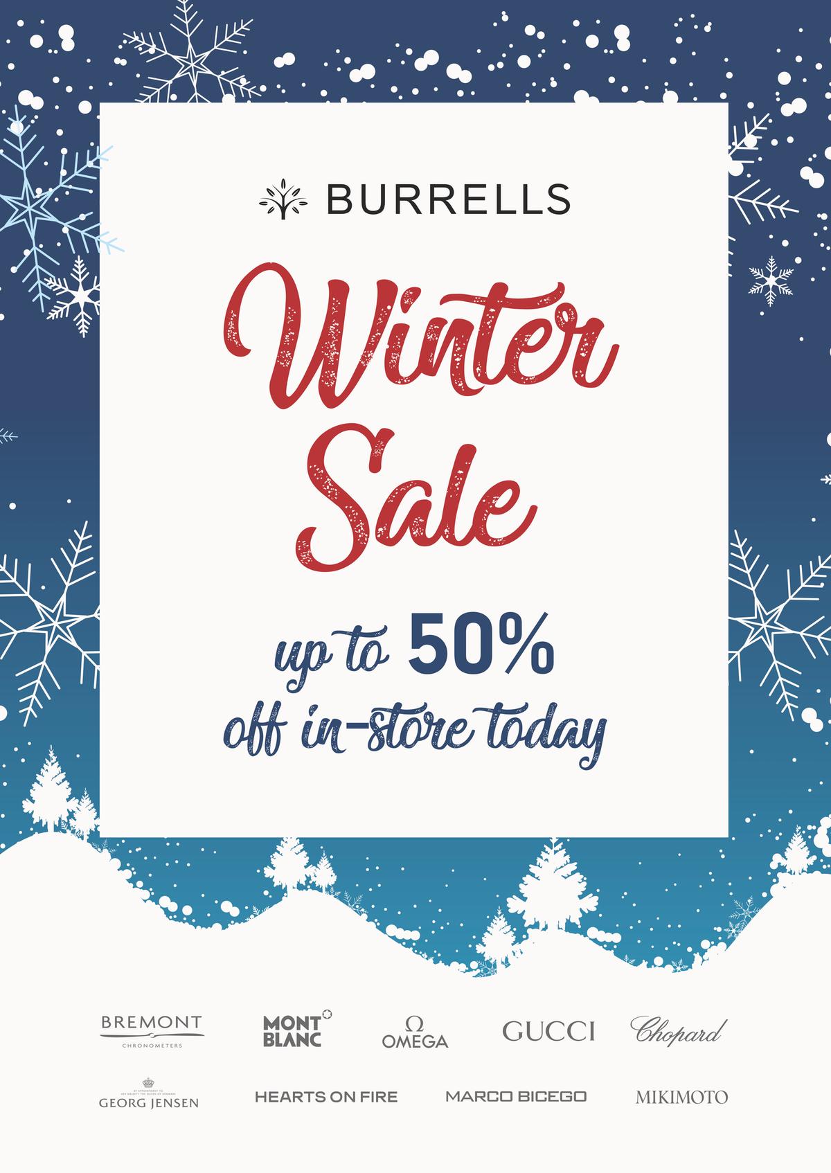 A Board for Burrells Sale campaign
