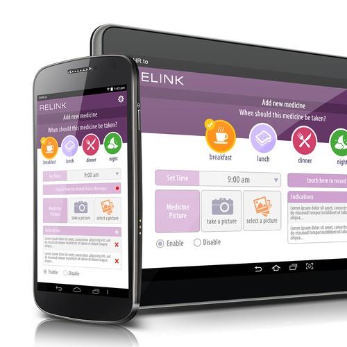 Relink mobile/tablet app redesign