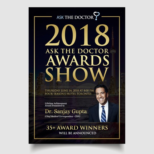 Elegant flyer design for Award show