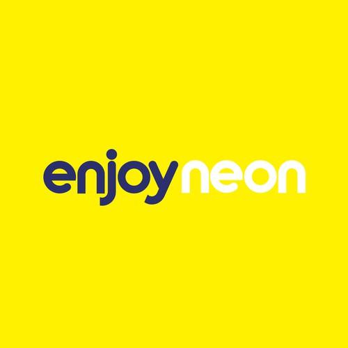 enjoyneon logo design