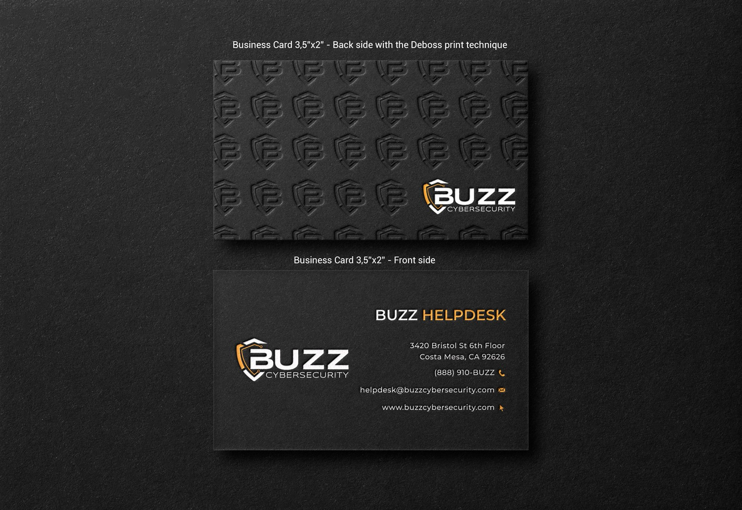 Buzz Cybersecurity New Business Card Design