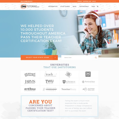 Freestyle, Long-Scroll Redesign for Education E-Commerce