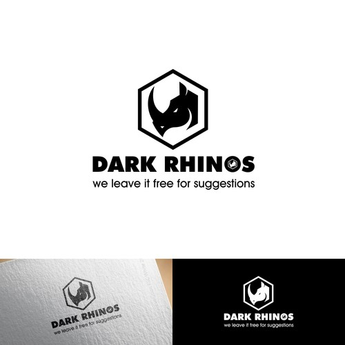 Bold logo for Dark Rhinos