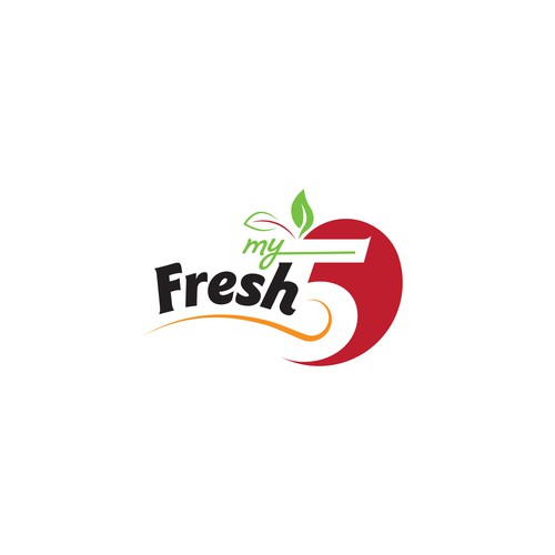 Logo for a meal subscription website MY FRESH 5