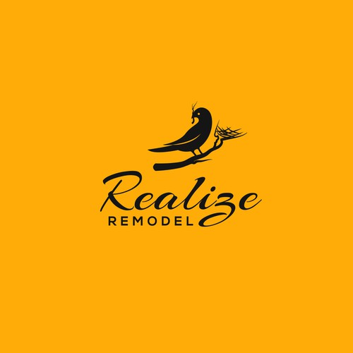 "Logo for Realestate remodeling brand ""Realize Remodel"""