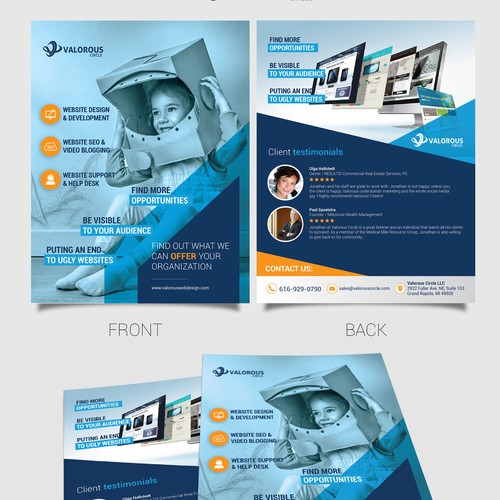 Marketing Flyer/Leave Behind for Web Design and SEO Firm