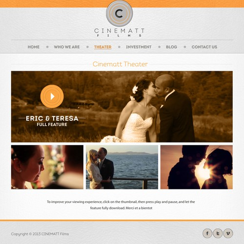 Website design for cinematt films