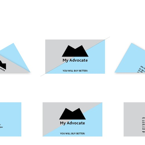 Create the next logo and business card for My Advocate