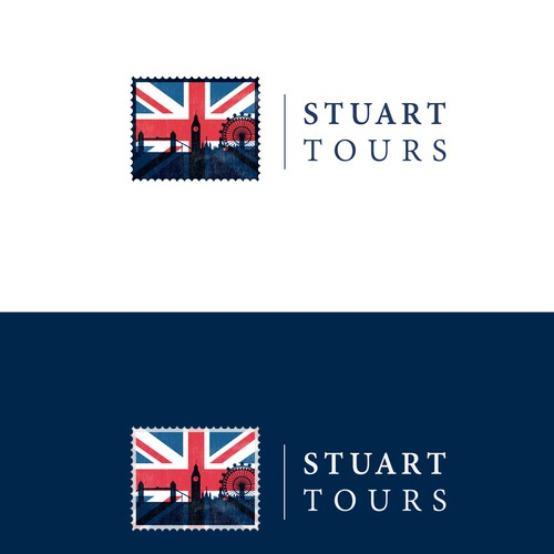 Create an inspiring logo for the new face of British tours.