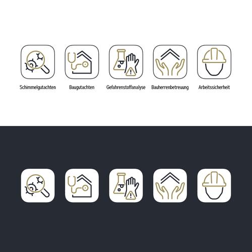 """Icon Design for """"Sachverständigen Webseite"""""""