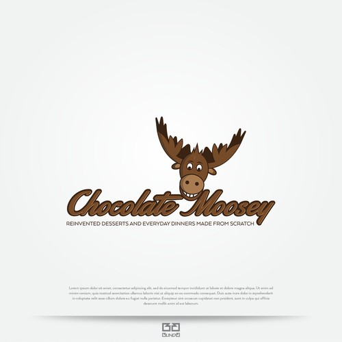 Funny moose logo.