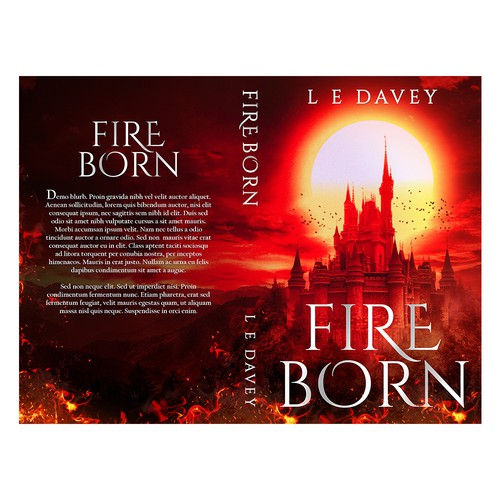 Fire Born Book Cover Design