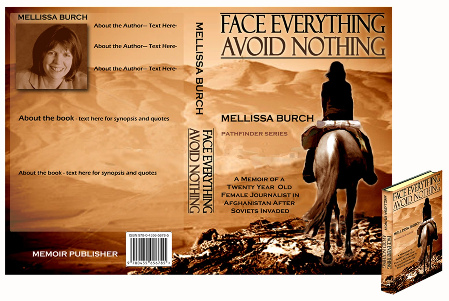 book or magazine cover for Memoir Publisher