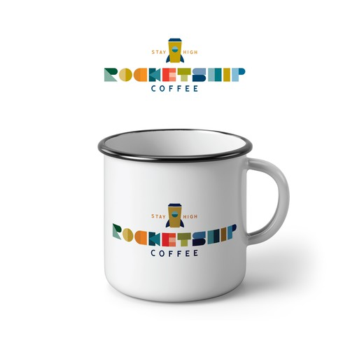 Logo Concept for Rocketship Coffee