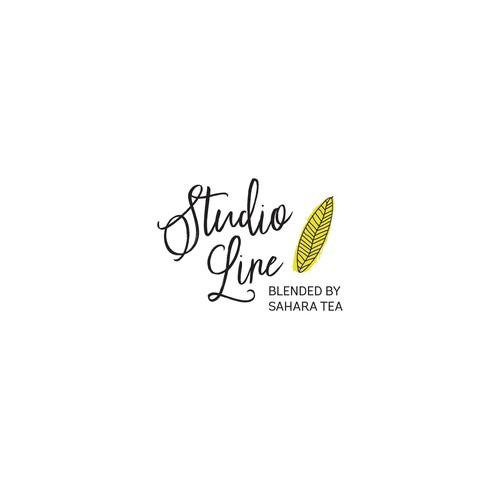 Hand drawn logo for line of Tea