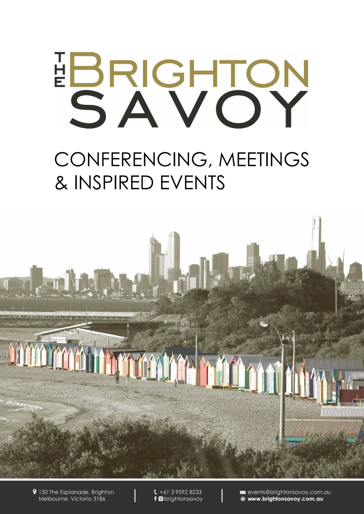 Update of conference brochure