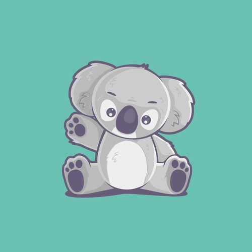 Koala character for children's line of clothing