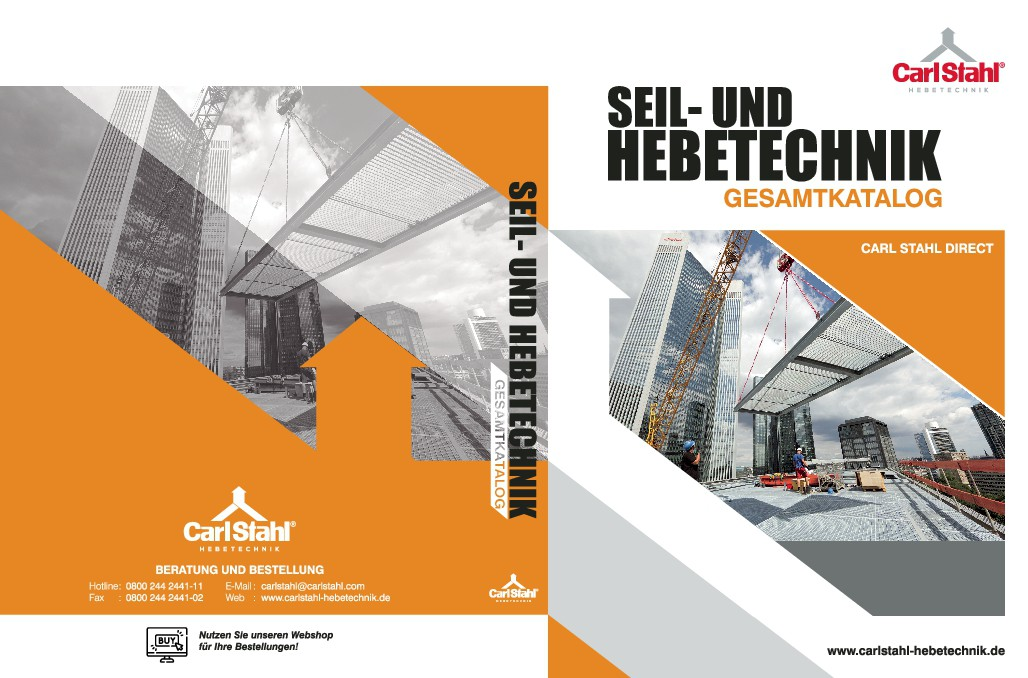 Cover page and back page DIN A4 industrial catalog as standard layout for catalogs